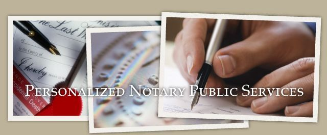 Personalized Notary Public Services
